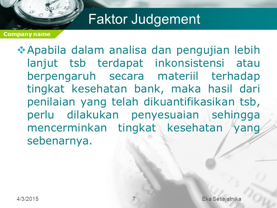 Faktor Judgement