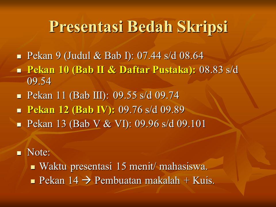 Presentasi Bedah Skripsi