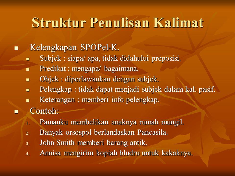 Struktur Penulisan Kalimat