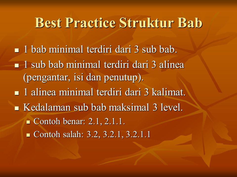 Best Practice Struktur Bab