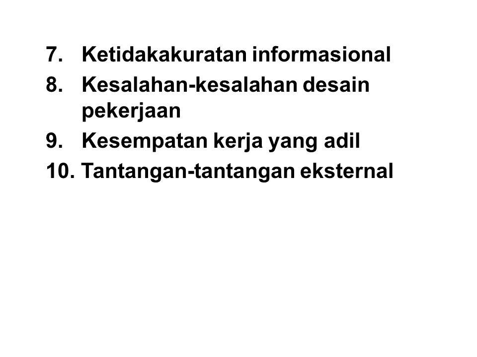 7. Ketidakakuratan informasional