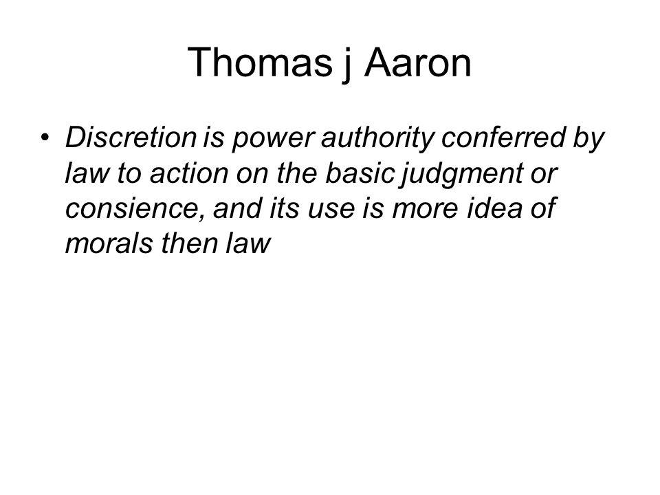 Thomas j Aaron