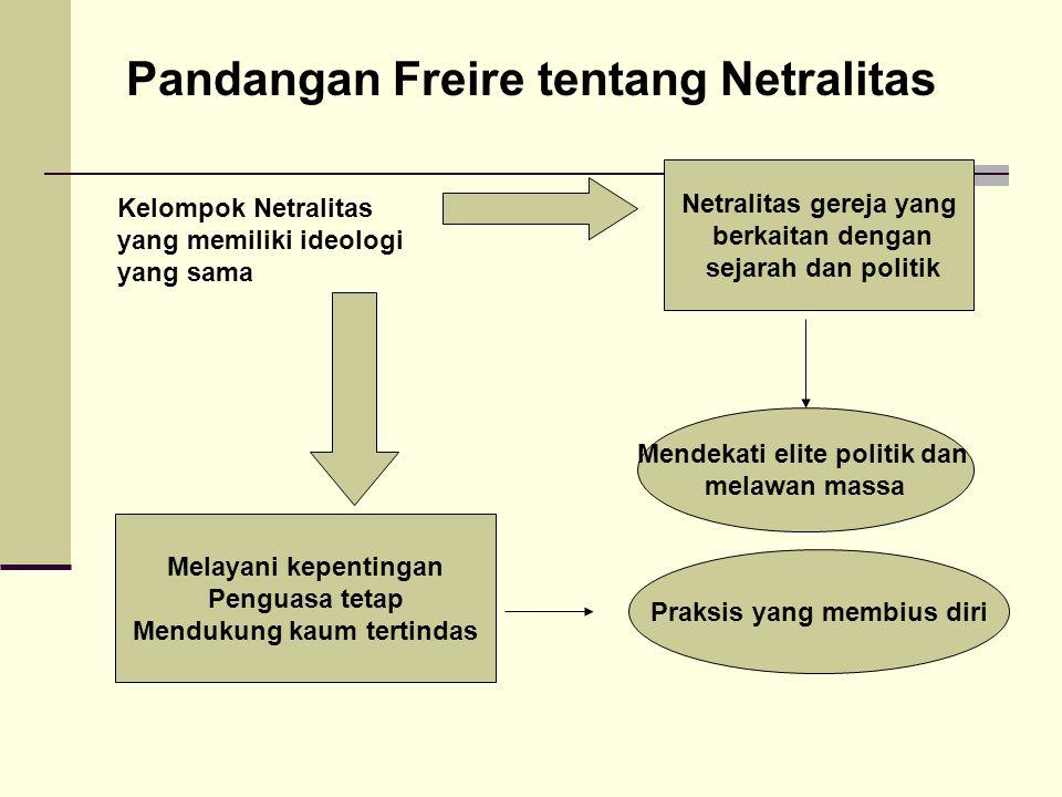 Pandangan Freire tentang Netralitas