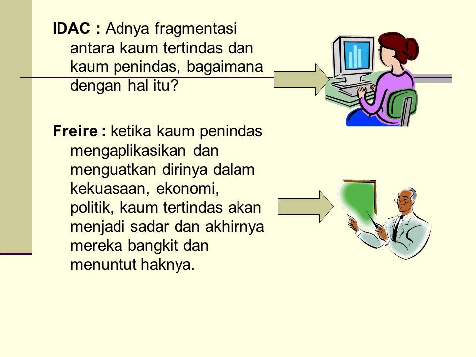 IDAC : Adnya fragmentasi antara kaum tertindas dan kaum penindas, bagaimana dengan hal itu