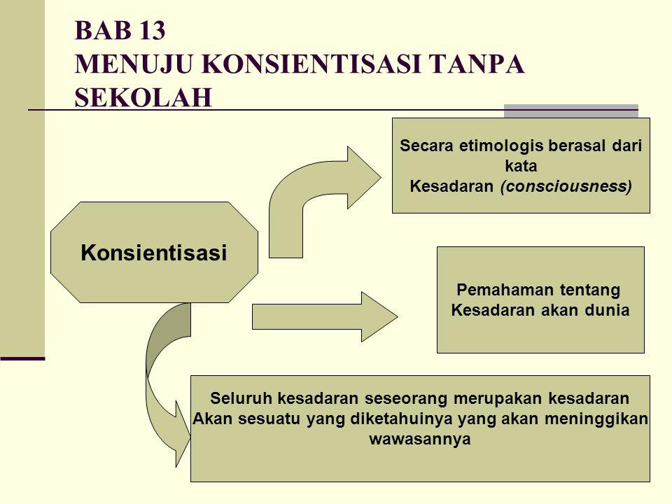 BAB 13 MENUJU KONSIENTISASI TANPA SEKOLAH