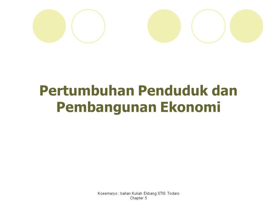 Pertumbuhan Penduduk dan Pembangunan Ekonomi