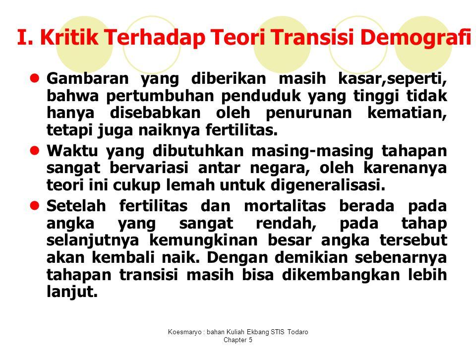 I. Kritik Terhadap Teori Transisi Demografi