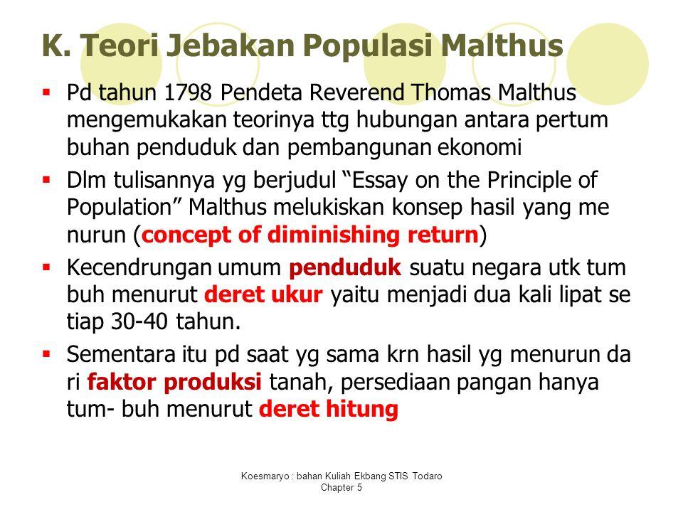 K. Teori Jebakan Populasi Malthus
