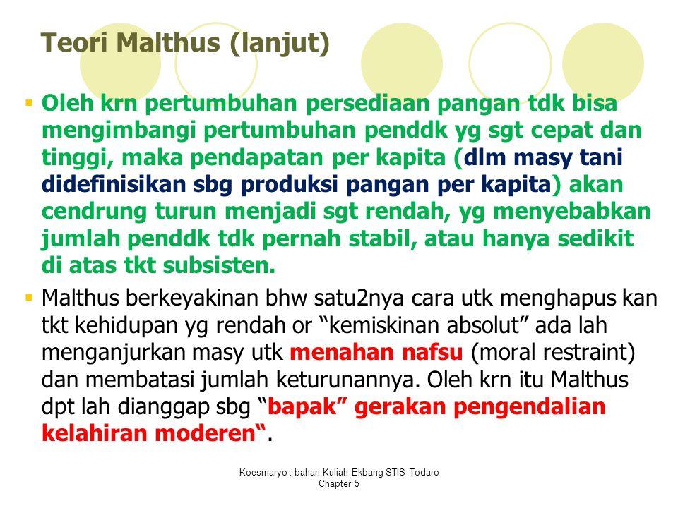 Teori Malthus (lanjut)