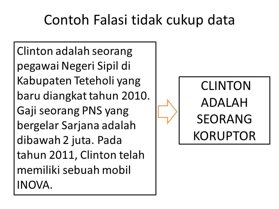 Contoh Falasi tidak cukup data