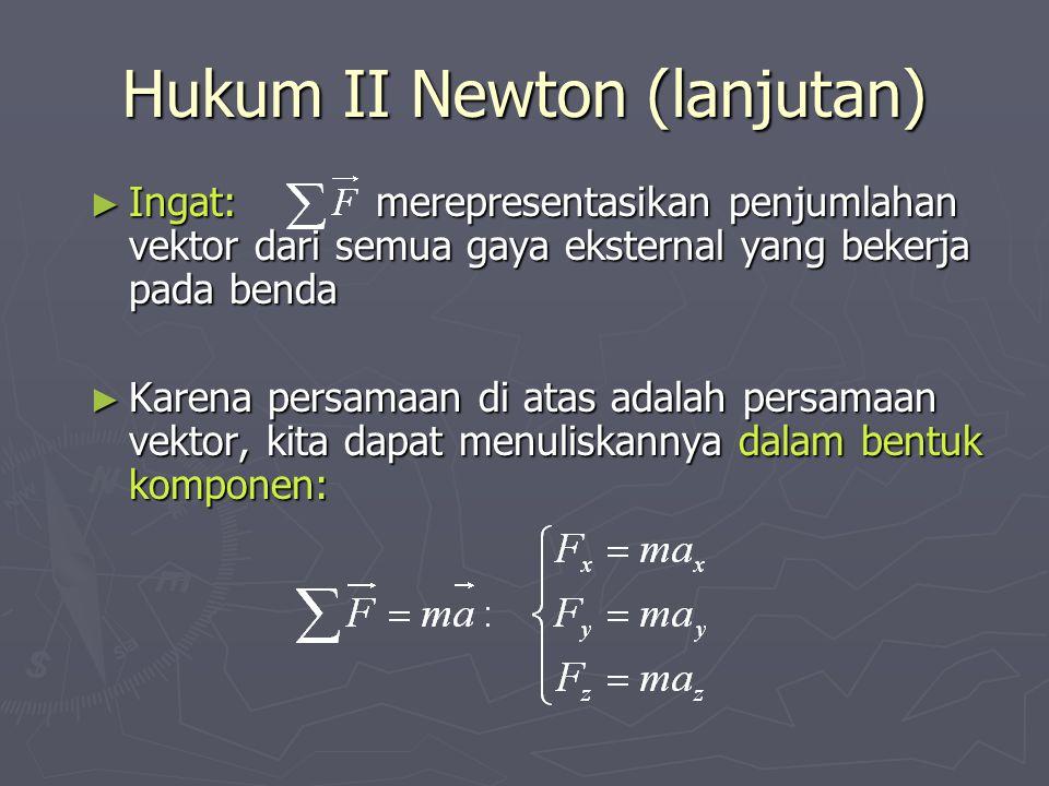 Hukum II Newton (lanjutan)