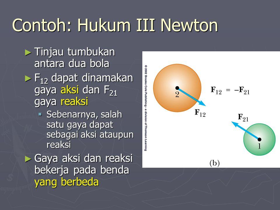 Contoh: Hukum III Newton