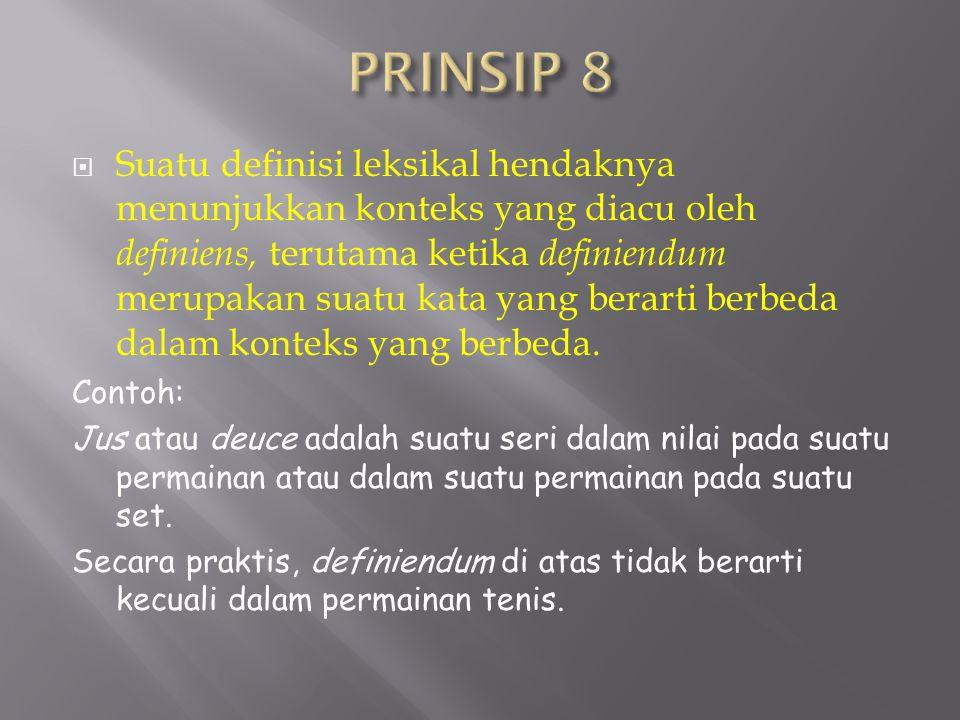PRINSIP 8