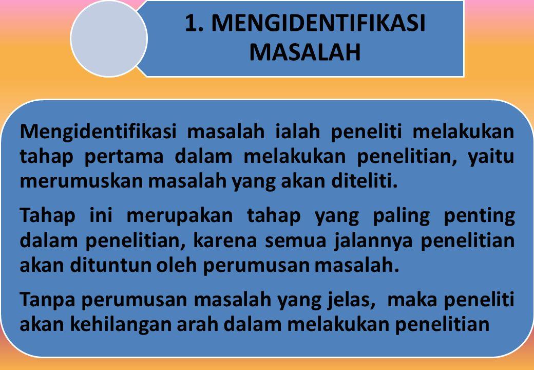 1. MENGIDENTIFIKASI MASALAH