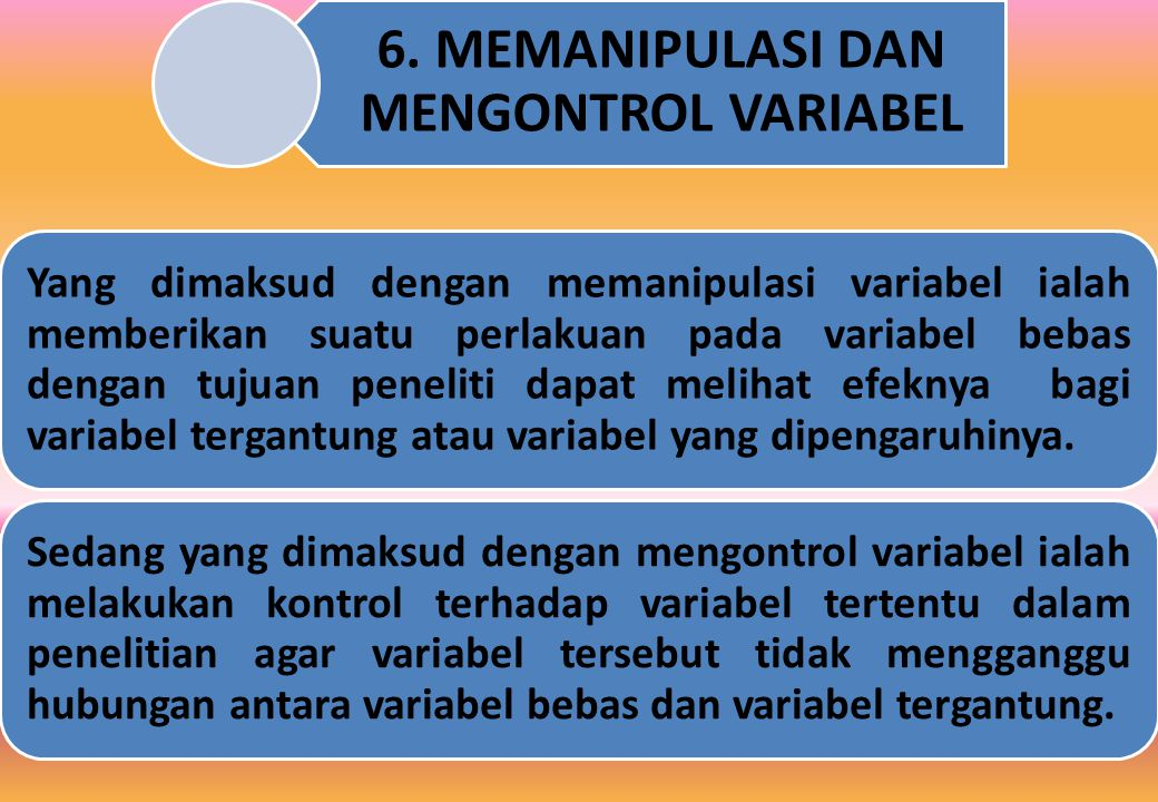 6. MEMANIPULASI DAN MENGONTROL VARIABEL