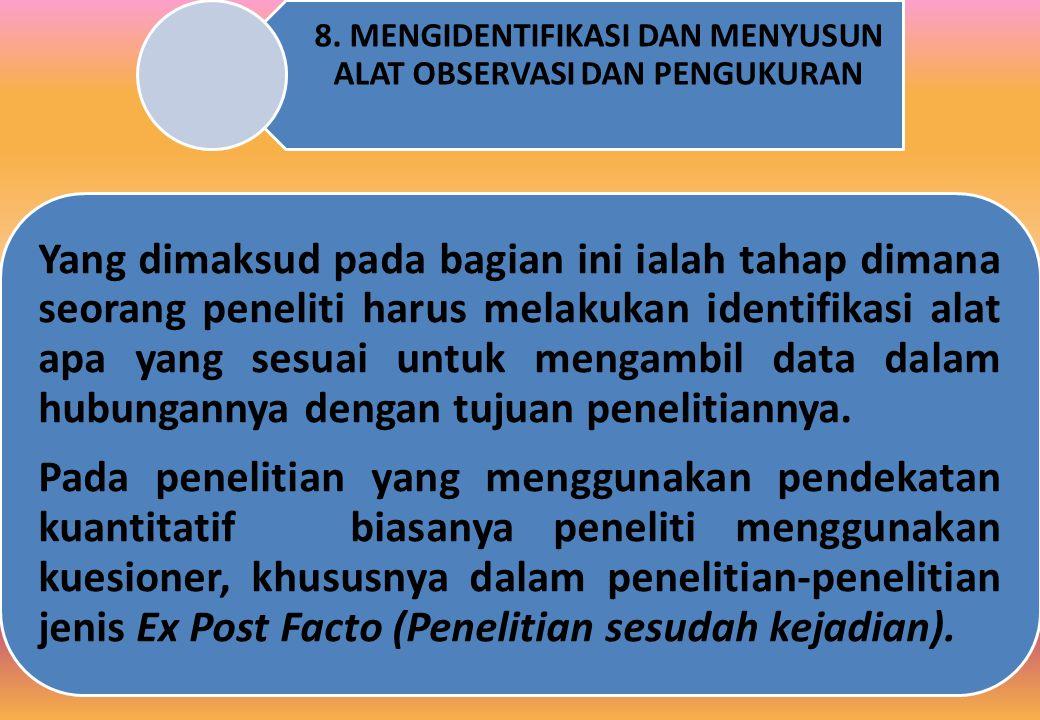 8. MENGIDENTIFIKASI DAN MENYUSUN ALAT OBSERVASI DAN PENGUKURAN