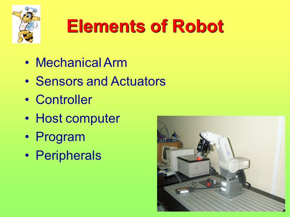 Elements of Robot Mechanical Arm Sensors and Actuators Controller