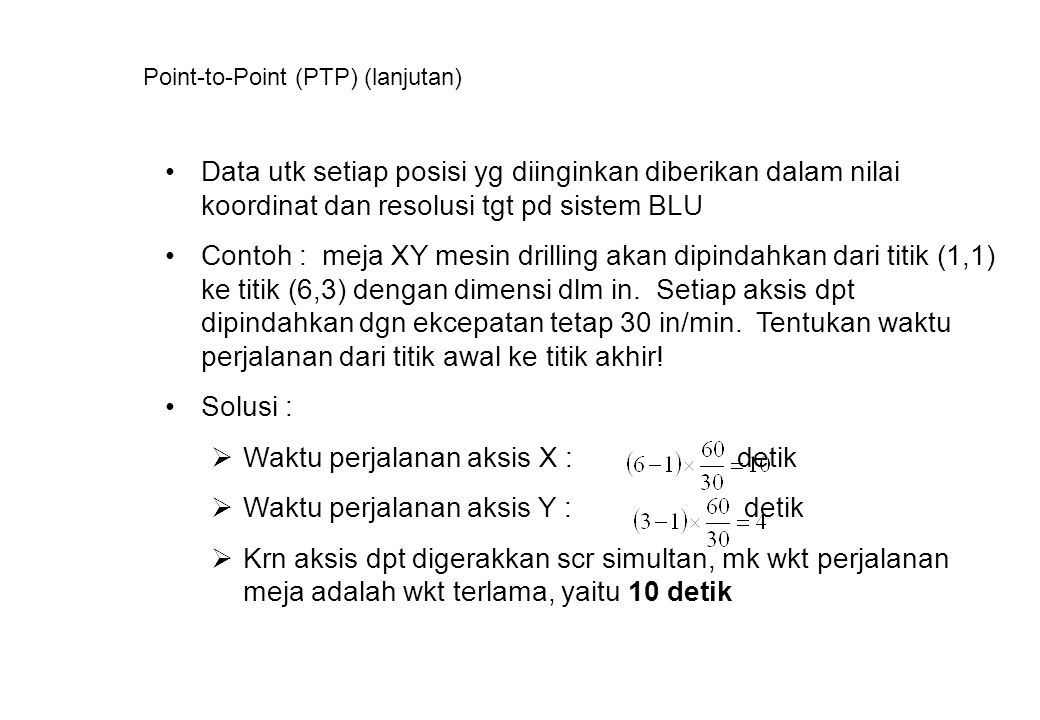 Point-to-Point (PTP) (lanjutan)