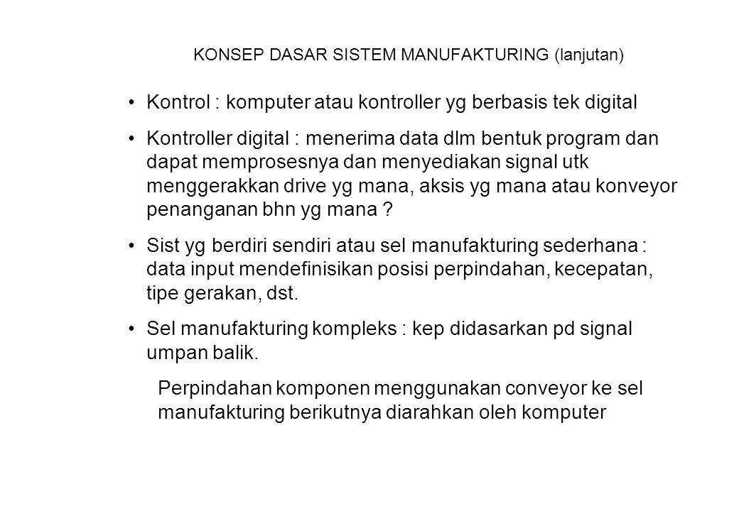 KONSEP DASAR SISTEM MANUFAKTURING (lanjutan)