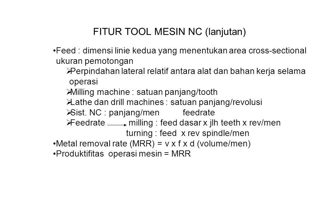 FITUR TOOL MESIN NC (lanjutan)