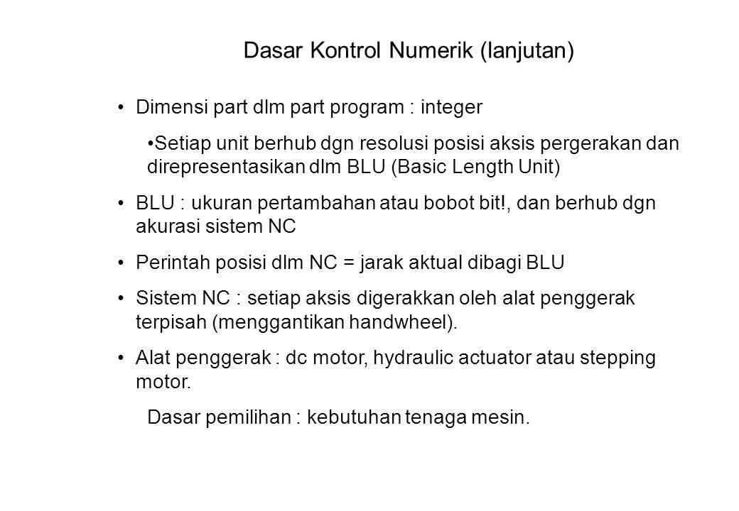Dasar Kontrol Numerik (lanjutan)