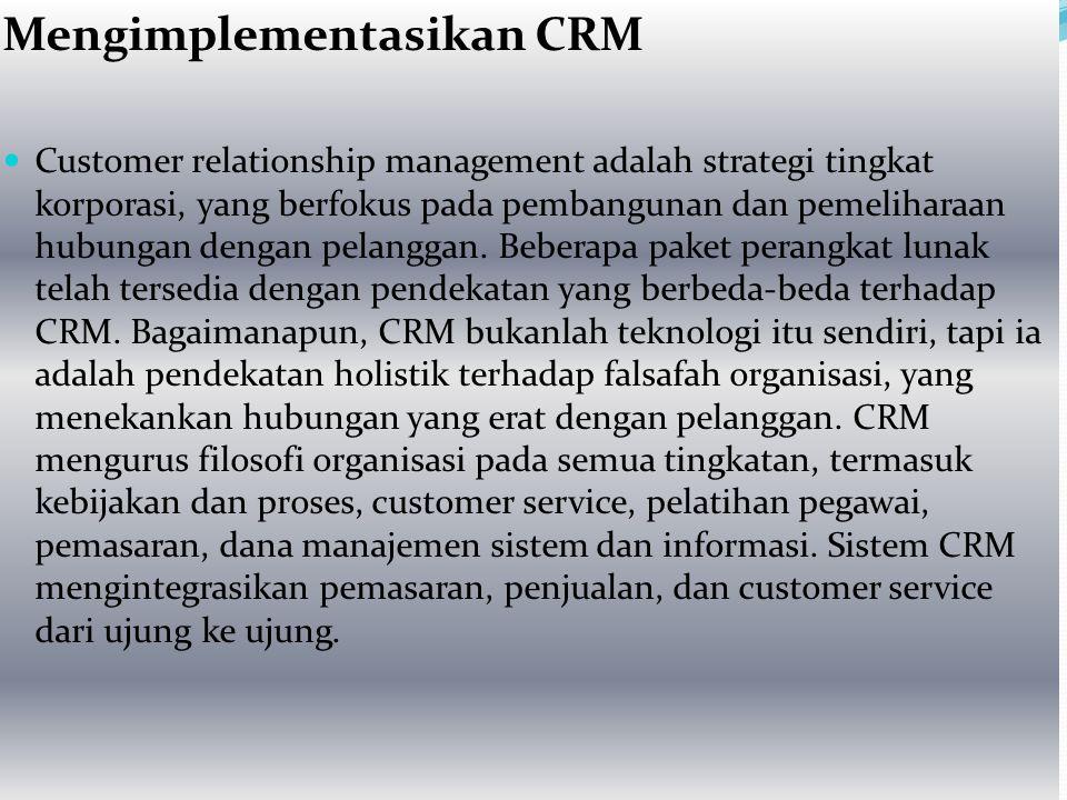 Mengimplementasikan CRM