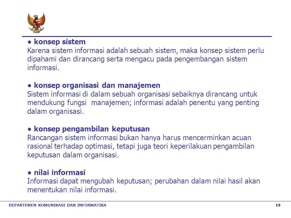 ● konsep organisasi dan manajemen