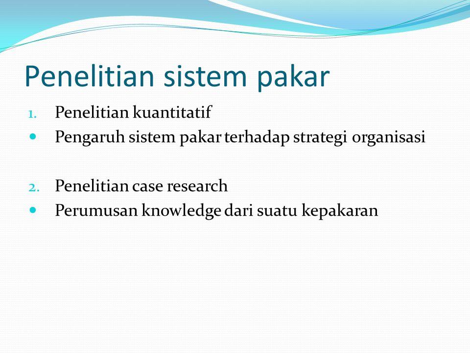 Penelitian sistem pakar
