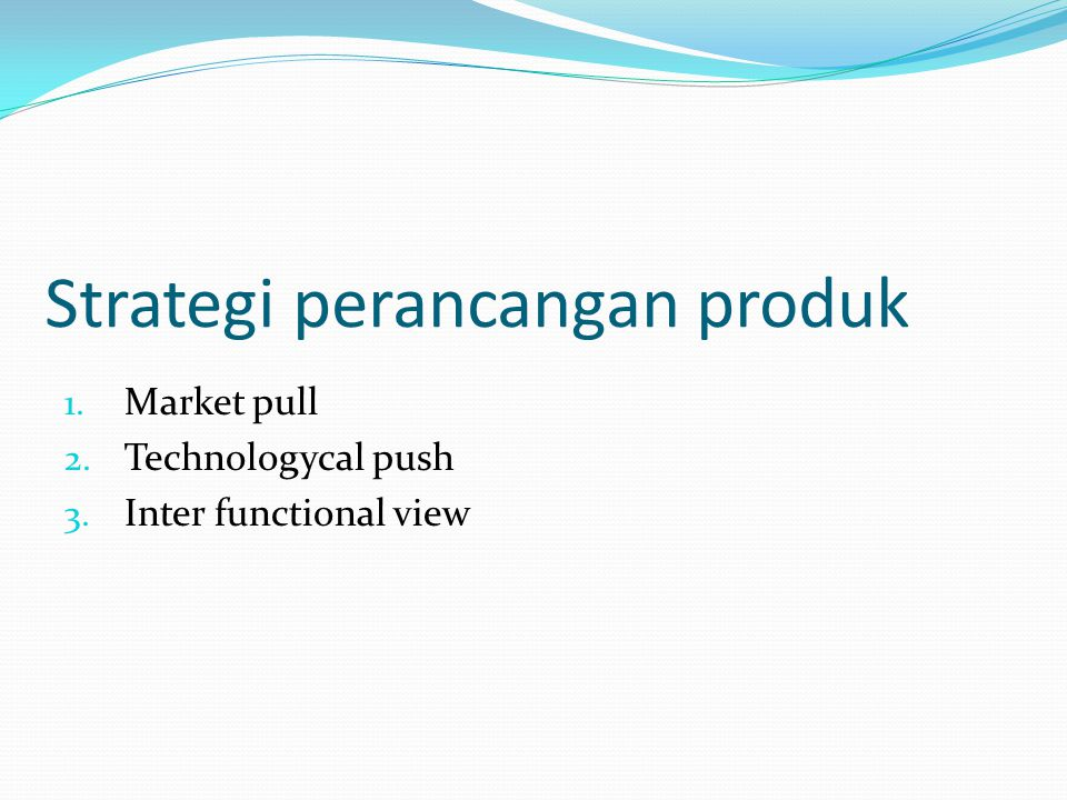 Strategi perancangan produk