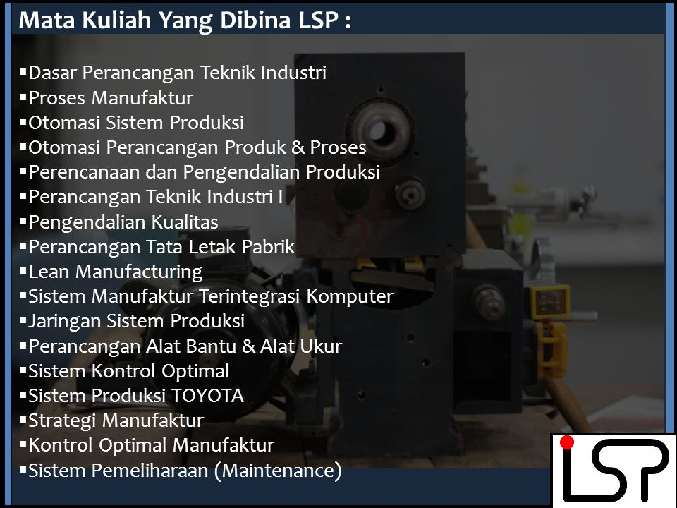 Mata Kuliah Yang Dibina LSP :