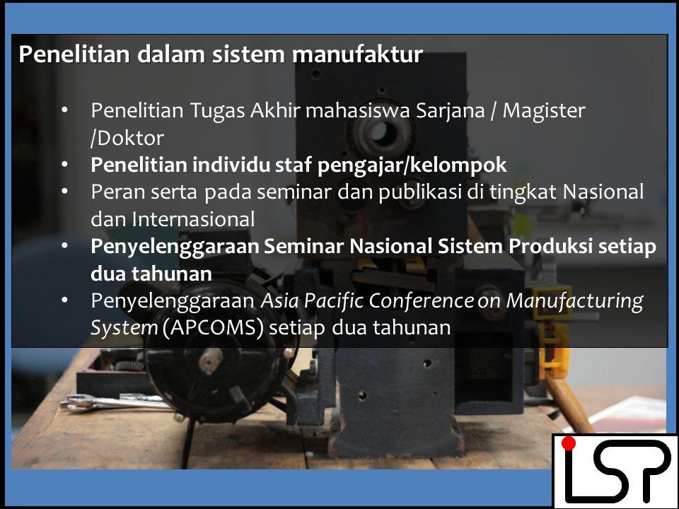 Penelitian dalam sistem manufaktur