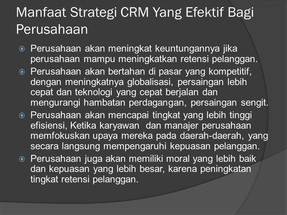 Manfaat Strategi CRM Yang Efektif Bagi Perusahaan