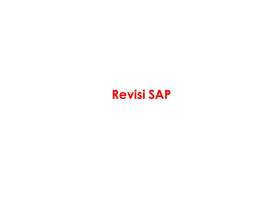 Revisi SAP