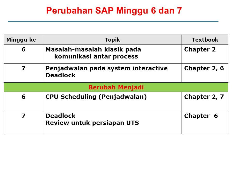 Perubahan SAP Minggu 6 dan 7