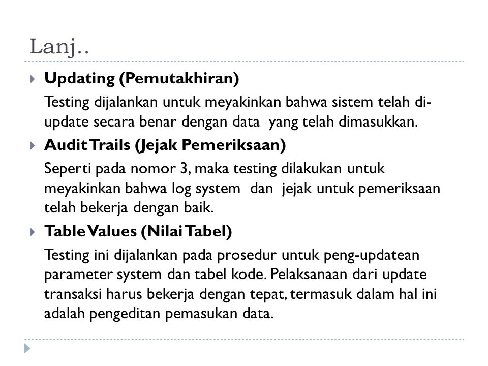 Lanj.. Updating (Pemutakhiran)