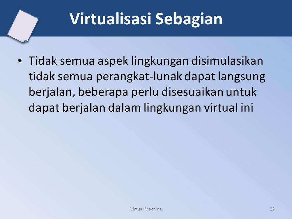 Virtualisasi Sebagian