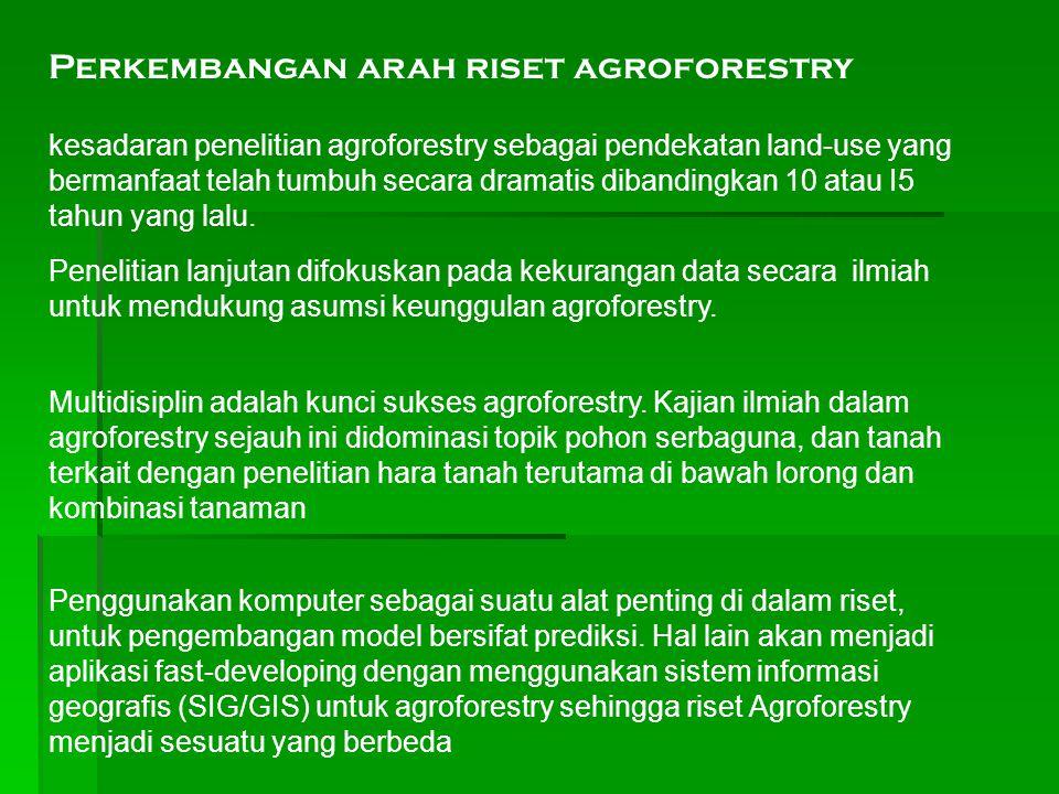 Perkembangan arah riset agroforestry