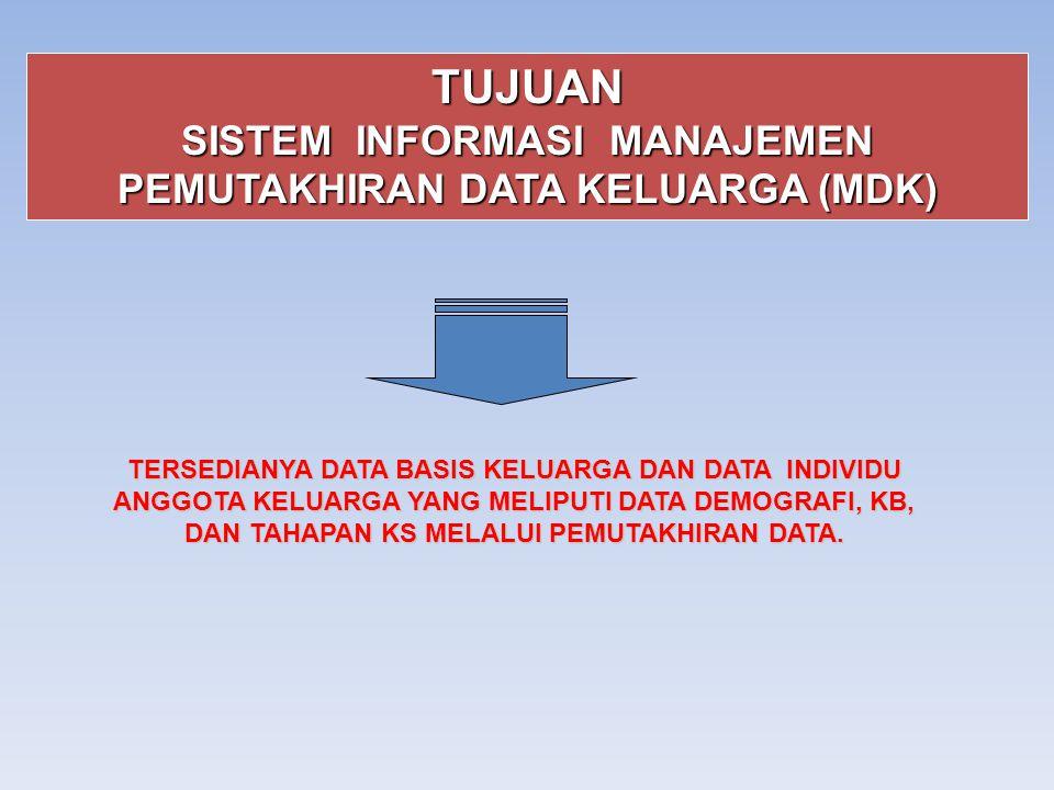 SISTEM INFORMASI MANAJEMEN PEMUTAKHIRAN DATA KELUARGA (MDK)
