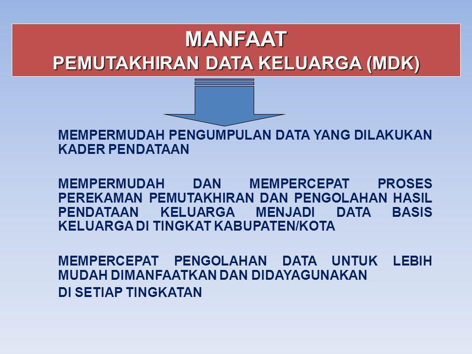 PEMUTAKHIRAN DATA KELUARGA (MDK)