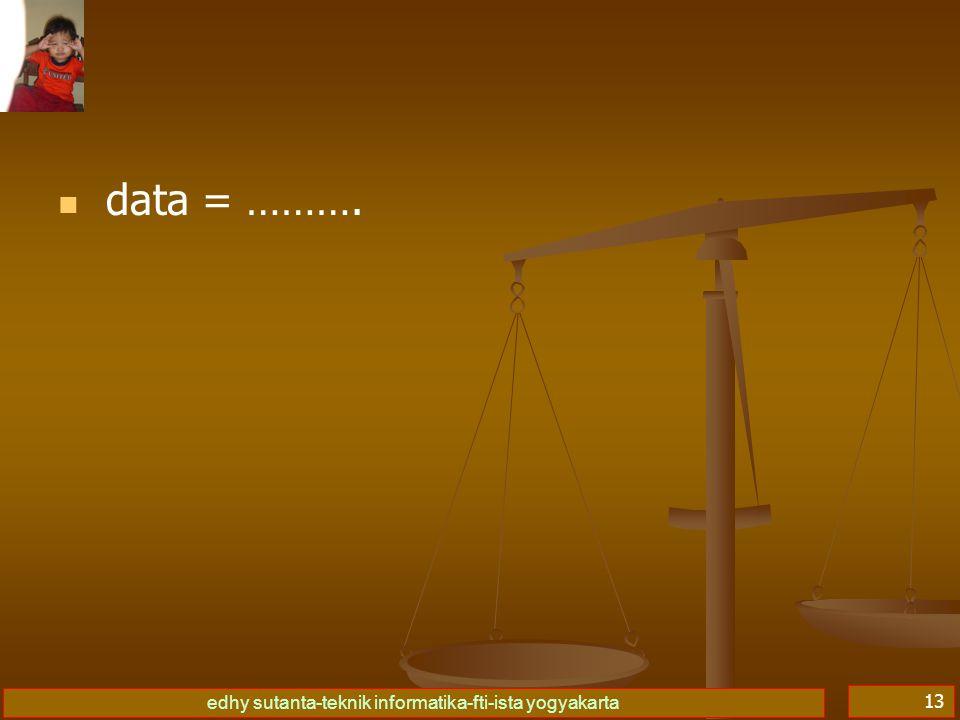 data = ……….