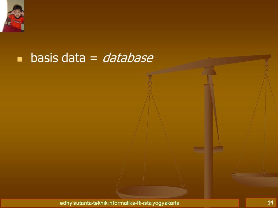 basis data = database
