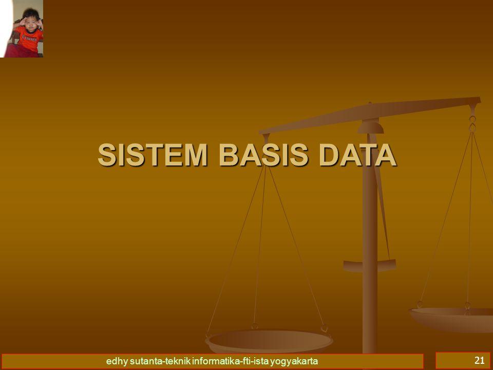 Basis Data I 09/04/2017 SISTEM BASIS DATA