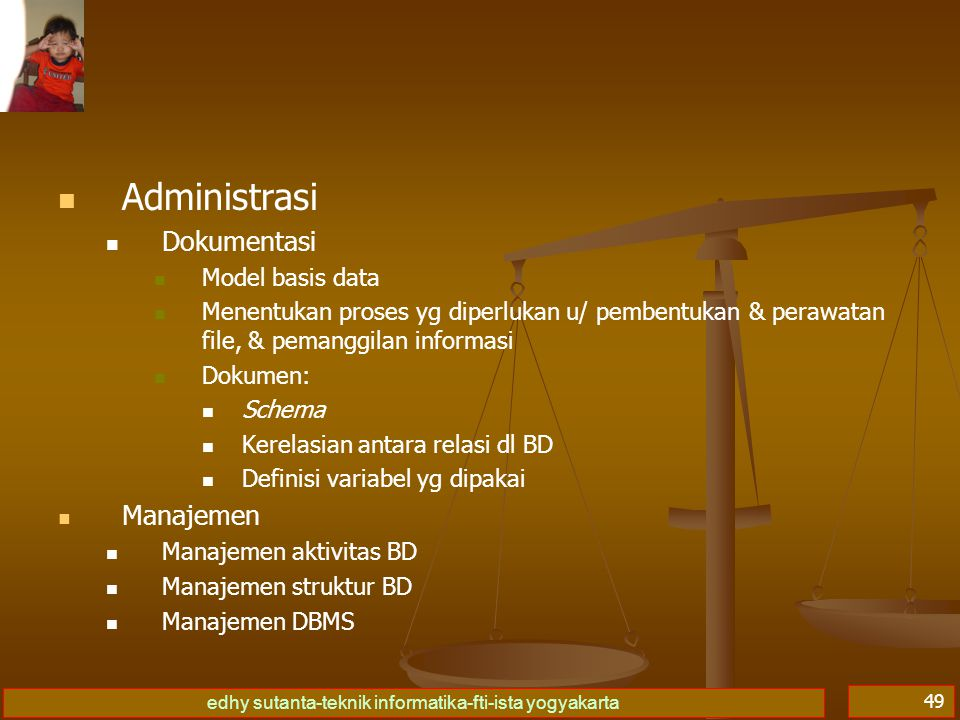 Administrasi Dokumentasi Manajemen Model basis data