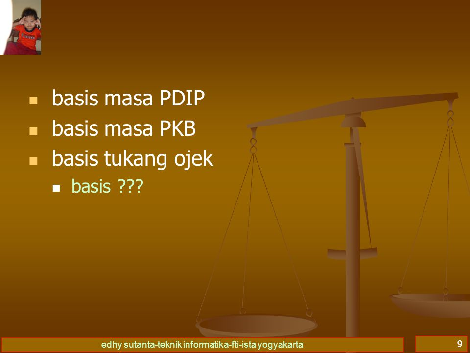 basis masa PDIP basis masa PKB basis tukang ojek basis