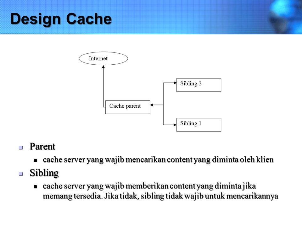 Design Cache Parent Sibling
