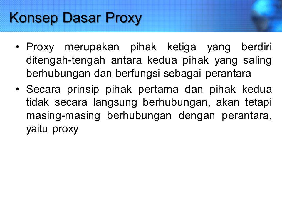 Konsep Dasar Proxy