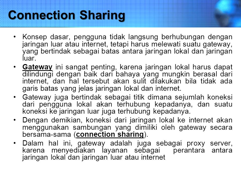Connection Sharing