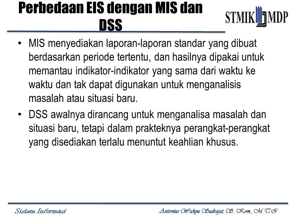 Perbedaan EIS dengan MIS dan DSS
