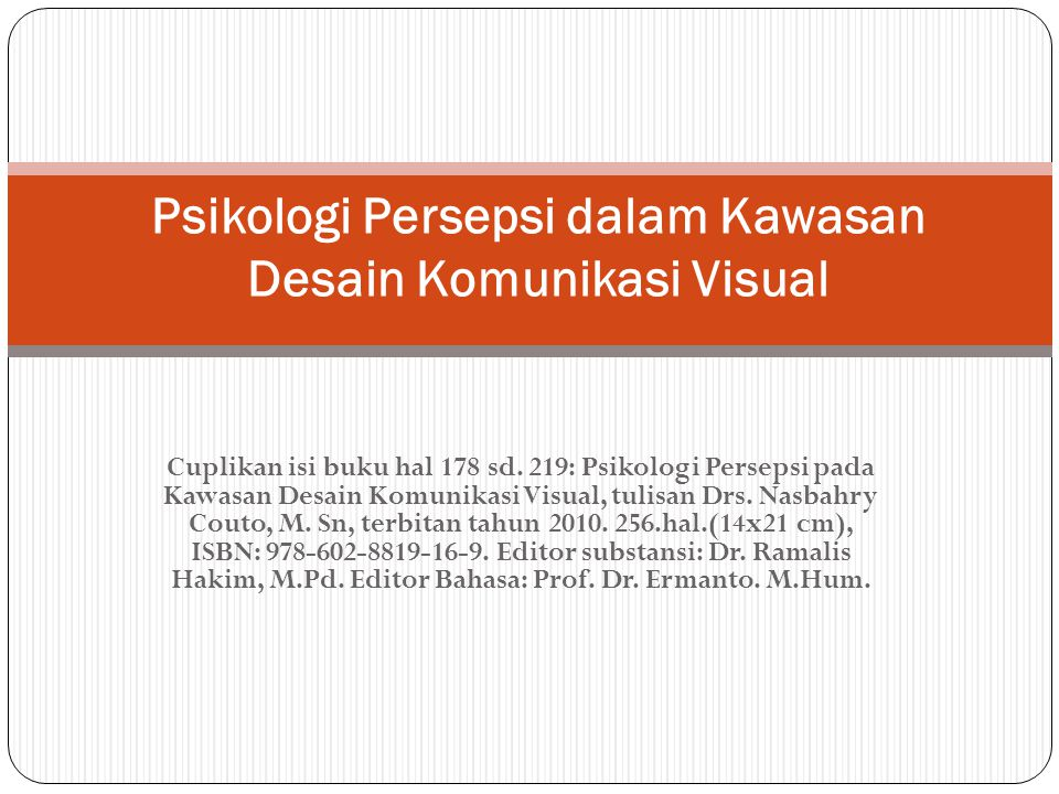 Psikologi Persepsi dalam Kawasan Desain Komunikasi Visual