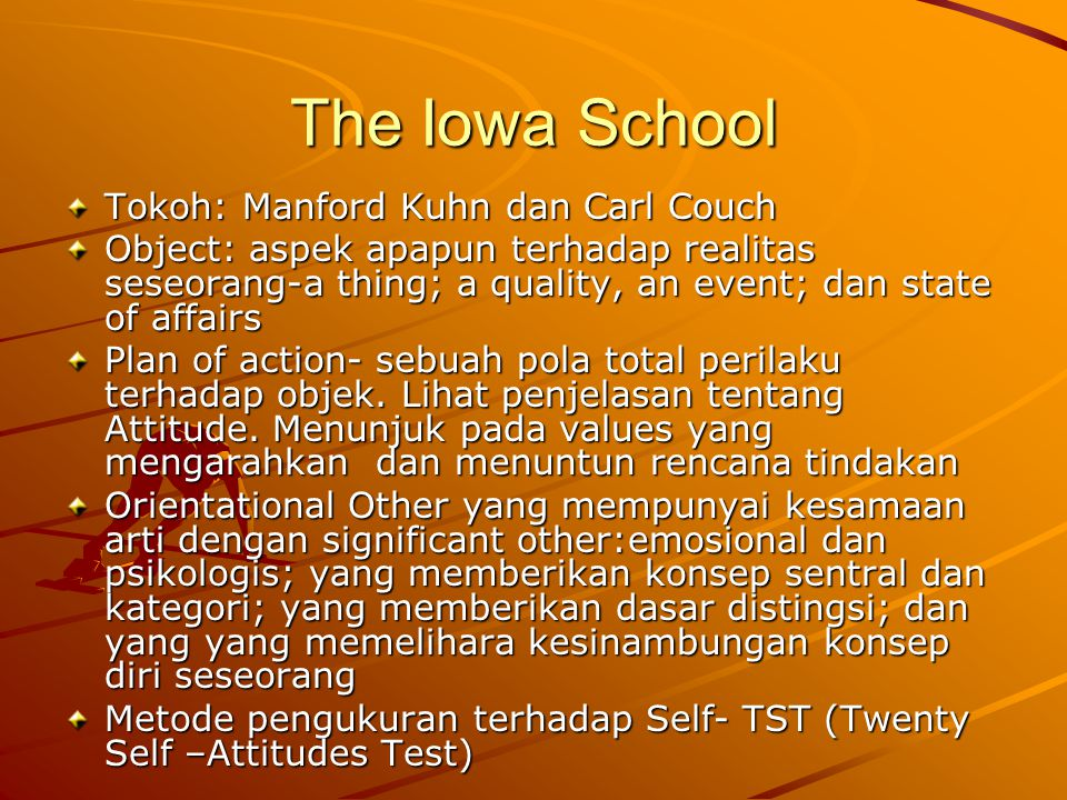 The Iowa School Tokoh: Manford Kuhn dan Carl Couch